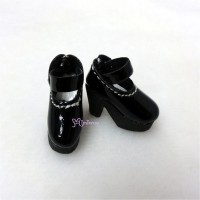 1/6 Bjd Doll Shoes High Heel Boots Black