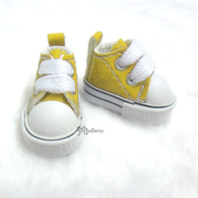 1/6 Bjd Neo B Doll PU Leather MICRO Shoes Sneaker Yellow SHP125YEW