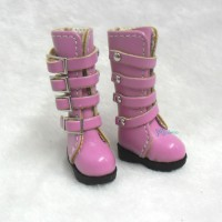 1/6 Bjd Doll Shoes Buckle Boots Pink SHP129DPK