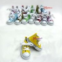 SHS100YEW BJD Doll SD Girl Sneaker PU Leather Shoes Yellow