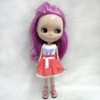 TBS075WHE 1/6 BJD Doll Outfit Butterfly Tee + Skirt