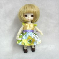 TBS080 Hujoo Baby Suve Obitsu 11cm Outfit One Piece Dress Yellow
