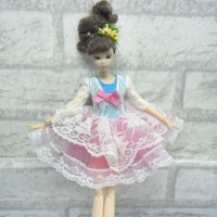 1/6 Bjd Doll Outfit European Dress TBS094PNK