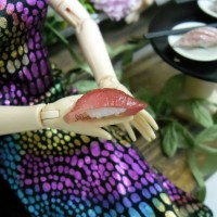 TPS019TUA 1/6 Bjd Doll Miniature Japanese Mini Sushi Tuna Fish