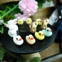 TPS032DUK 1/6 Bjd Resin Doll Miniature Animal Mini Duck (4pcs)