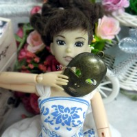 1/6 Bjd Miniature Mini Metal Beijing Opera Mask Copper TPS046CPR