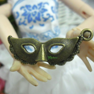1/6 Bjd Miniature Mini Metal Costume Eye Mask Copper TPS052CPR