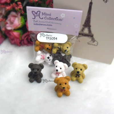 1/6 Miniature Mini Teddy Bear 4pcs Set TPS054