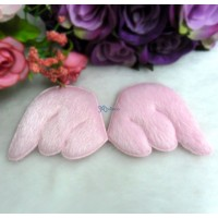 TPS074PNK 55mm Plushy Fabric Angel Wings Pink (1 pair)