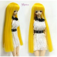 "1/6 Bjd Long Straight Bang Heat Resistant 3.5"" - 4"" Wig Yellow WM27-02-YW"