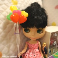 YC0043HET 1/6 Bjd Doll Mini Balloon Heart 8pcs