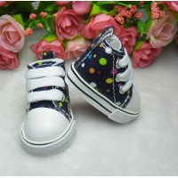 Yo SD 1/6 Bjd OB Male Doll Shoes Dots Sneaker Purple SHU004PUE