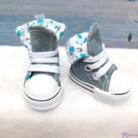SHU059GRY Yo-SD Albu Dog TY doll bjd Shoes Denim Folded Boots Grey