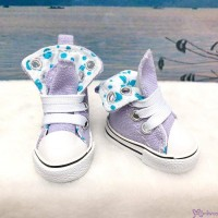 SHU059LPU Yo-SD Albu Dog TY bjd doll Shoes Denim Folded Boots Purple
