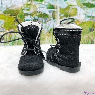 SHU072BLK Mimiwoo Yo-SD 1/6 bjd Doll Shoes Cloth Boots Black