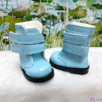 SHU073BLE Yo-SD 1/6 bjd Doll Shoes Double Strap Boots Blue