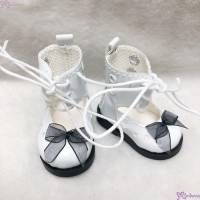 SHU074WHE Mimiwoo Yo-SD 1/6 bjd Doll Shoes Lace Hole Boots White