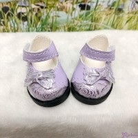 Yo-SD 1/6 bjd MCC Doll Butterfly Bow Flower Strap Shoes Purple SHU075PUE