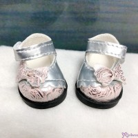 Yo-SD 1/6 bjd MCC Doll Butterfly Bow Flower Strap Shoes Silver Pink SHU075SPK