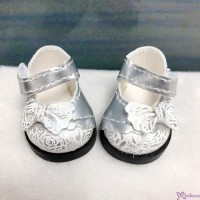 Yo-SD 1/6 bjd MCC Doll Butterfly Bow Flower Strap Shoes Silver White SHU075SWH